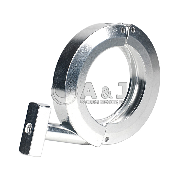Machined Clamp, KF 40 (NW 40), Aluminum