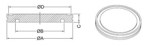 New Blank-Off Flange, ISO 100, 304 Stainless Steel blank off