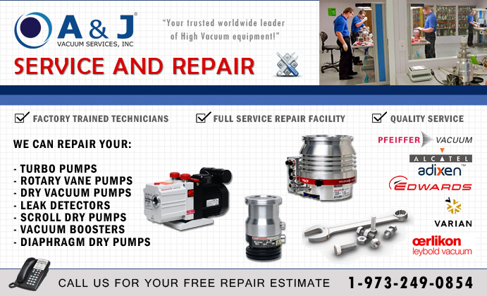 AJVS Repair and Service of High Vacuum Equipment