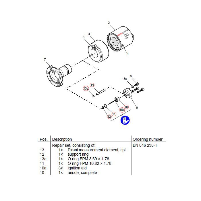 Item PN07488 Mfr Part BN846238T Manufacturer Pfeiffer Vacuum