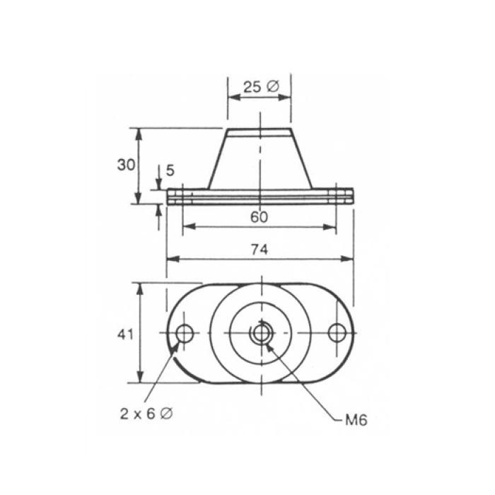 Edwards Vibration Isolators A24801404, rubber feet Edwards